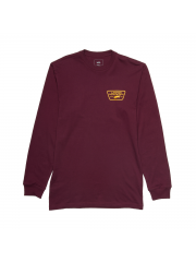 Longsleeve Vans Full Patch Burgundy / Mineral Yellow