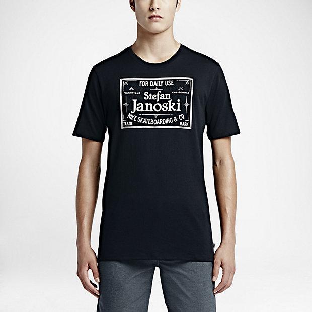 ogromny zapas amazonka klasyczne buty Koszulka Nike SB Dri Fit Janoski Label Black / White ...